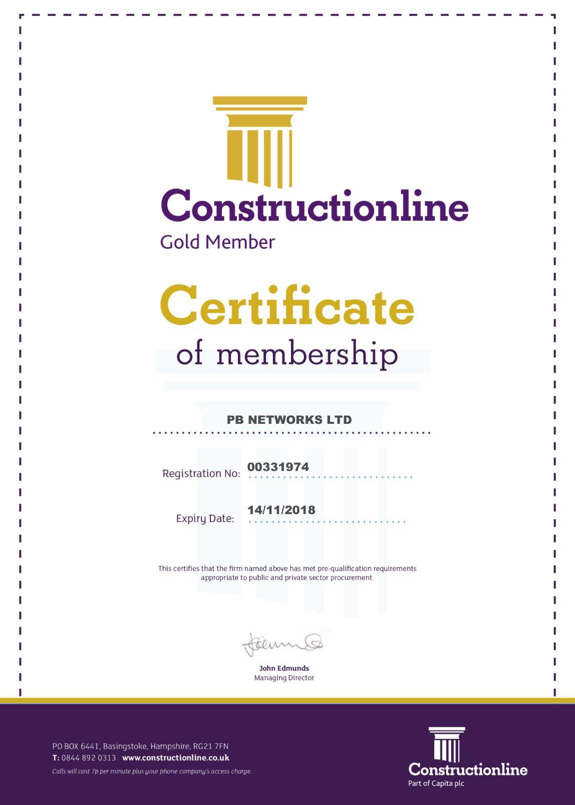 Constructionline accredited uk contractor